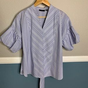 Halogen Striped Button up Blouse